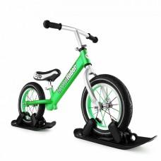 Беговел с лыжами и колесами SmallRider FootRacer AIR (зеленый)