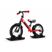 Беговел с лыжами и колесами SmallRider Roadster 2 AIR (красный)