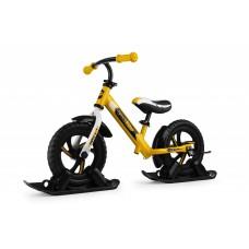 Беговел с лыжами и колесами SmallRider Roadster 2 EVA (желтый)