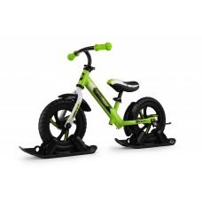 Беговел с лыжами и колесами SmallRider Roadster 2 EVA (зеленый)