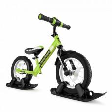 Беговел с лыжами и колесами SmallRider Roadster 2 AIR PLUS (зеленый)